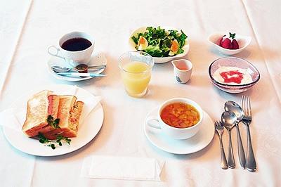 入院中の朝食